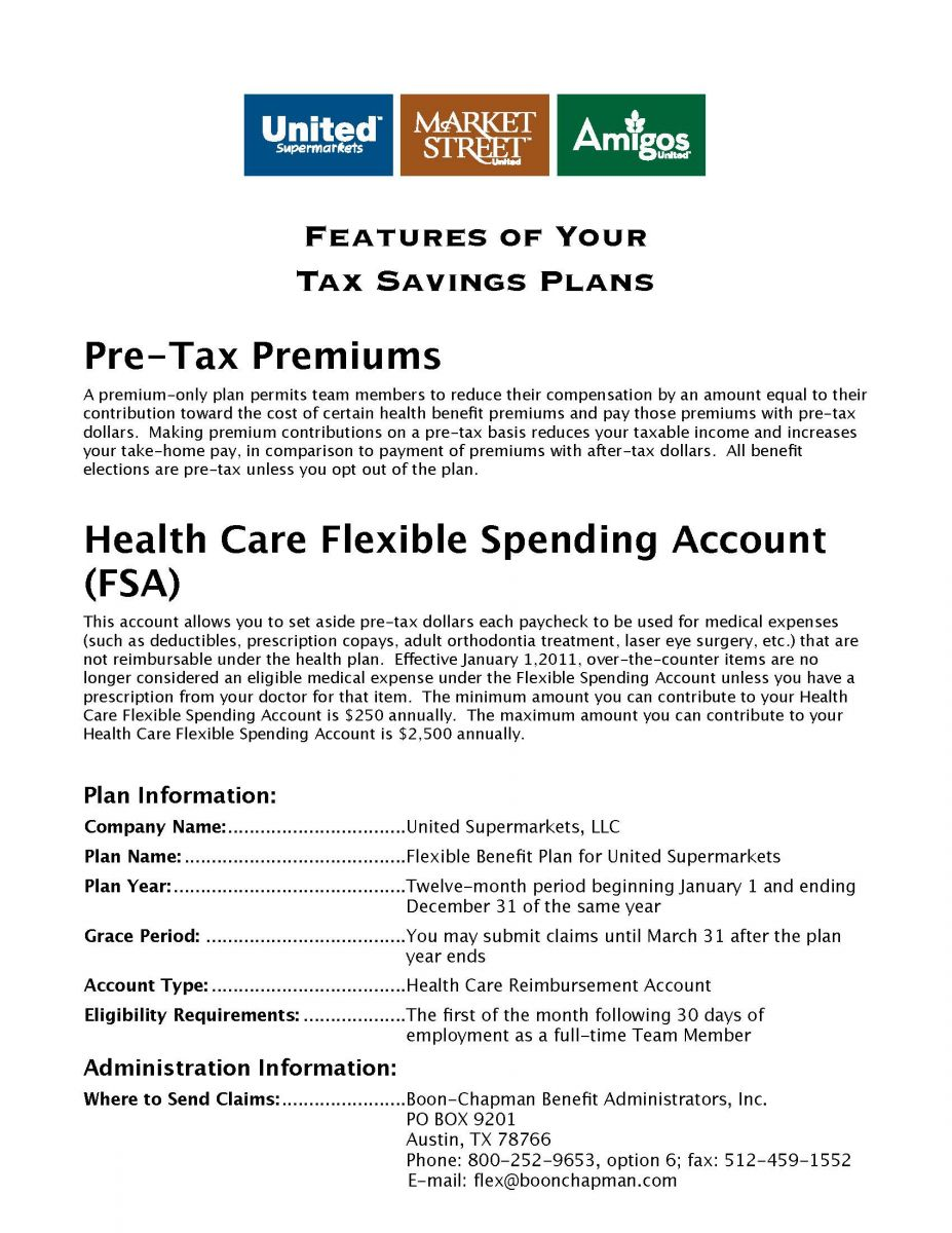 Flexible Spending Account | United Supermarkets